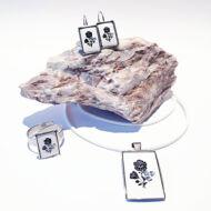 Retró kalocsai szett Swarovski® kristályokkal