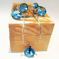 Mesés kék szett Swarovski kristályokkal