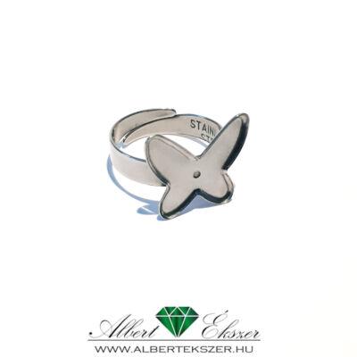 Nemesacél gyűrű alap pillangó formával