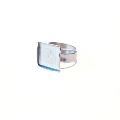 Nemesacél gyűrű alapok-négyzet-( 16x16/20x20 mm)