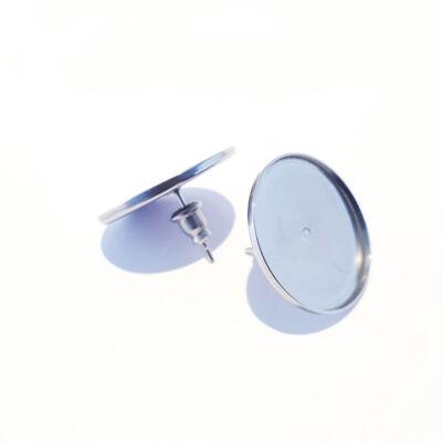 Nemesacél beszúrós fülbevaló átmérő 20 mm