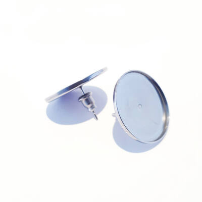 Nemesacél beszúrós kerek fülbevaló alapok 12-14-20 mm