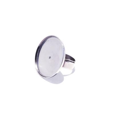 Nemesacél gyűrű alap - 25mm