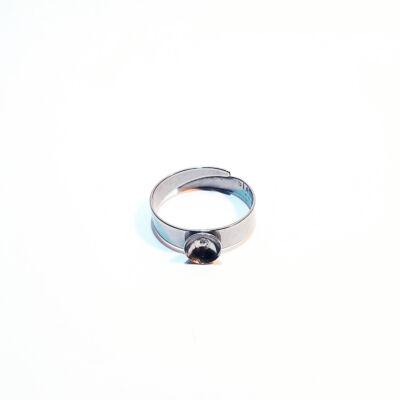 Nemesacél gyöngyös gyűrű alap