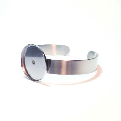 Nemesacél merev karkötő alap  (30 mm )