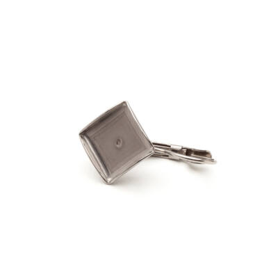 10x10mm-es francia kapcsos fülbevaló