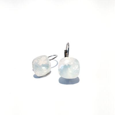 Swarovski négyzet alakú kristályos fülbevaló