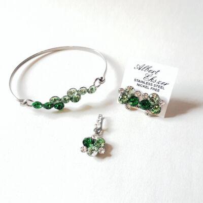Zöld varázs-Swarovski ® kristályokkal